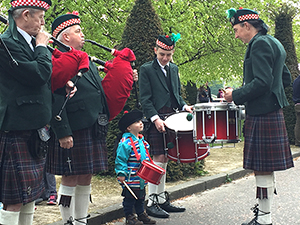 Drummer boy at the Kiltwalk